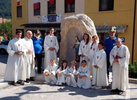 Inaugurazione Capitello intitolato alla Madonna della Salute.